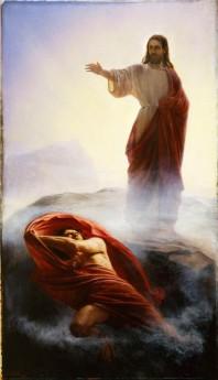 jesus casting out lucifer